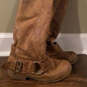 Tan rugged boots